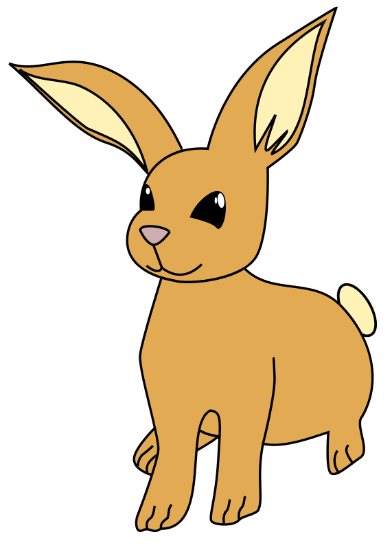 Rabbit with an apple clipart vector library Animal Clipart | Animales prediseñados | Pinterest | Clip art free ... vector library