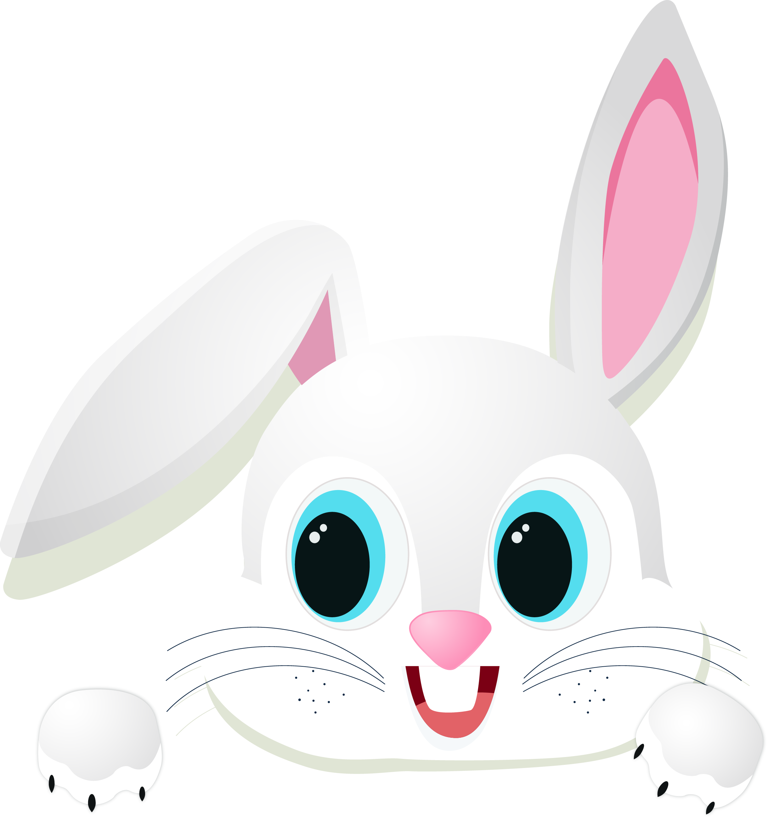 Rabbit with an apple clipart free library Domestic rabbit Easter Bunny Chinese zodiac - Cartoon cute little ... free library