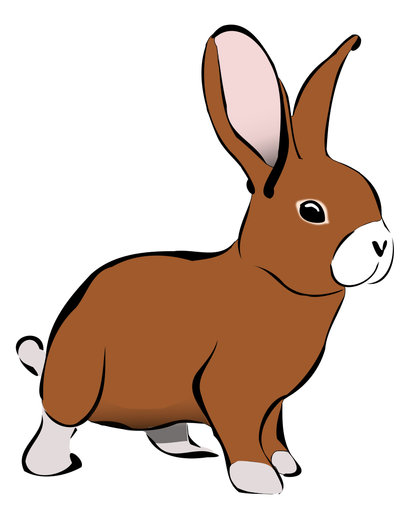bunny clipart - Free Large Images | Clipart in 2019 | Rabbit ... svg free stock