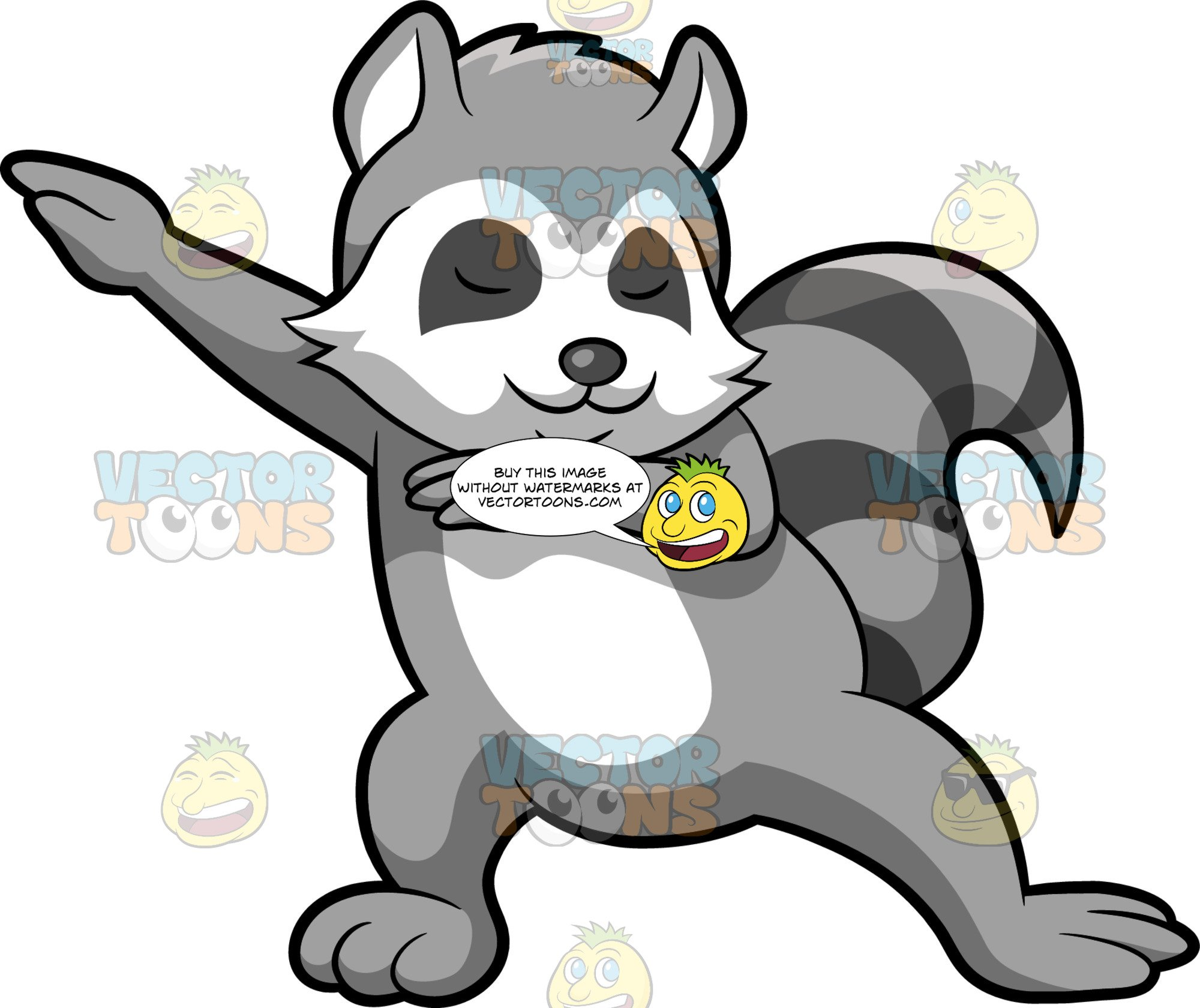 Dabbing Raccoon jpg download