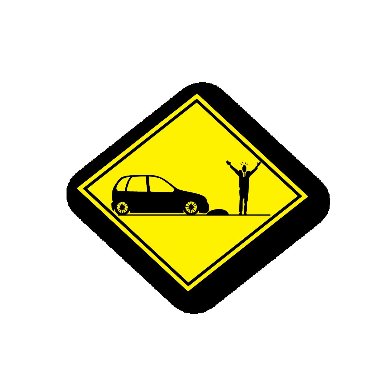 Race car crash clipart freeuse stock Caution car crash - Racing Sticker - Vinyl Sticker freeuse stock
