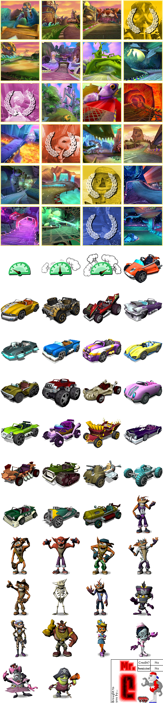 Race car crash clipart picture library GameCube - Crash Tag Team Racing - Gift Shop Items - The Spriters ... picture library