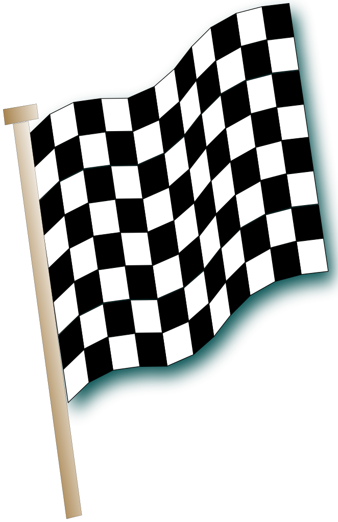 Race car flags clipart clip royalty free download File:Checkered flags-fr.svg - Wikipedia clip royalty free download