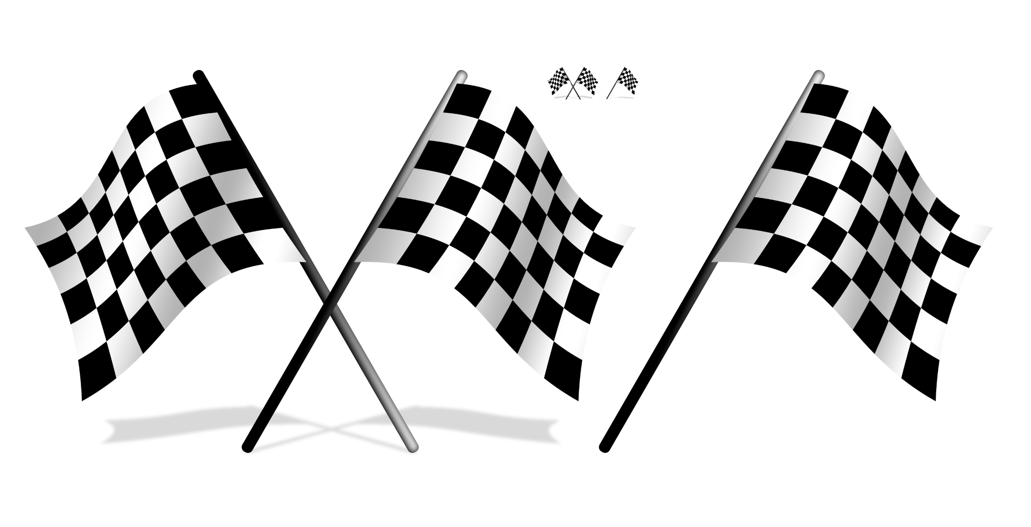 Race car flags clipart clipart freeuse library Draughts Check Drapeau xc3xa0 damier Racing flags Clip art - Black ... clipart freeuse library