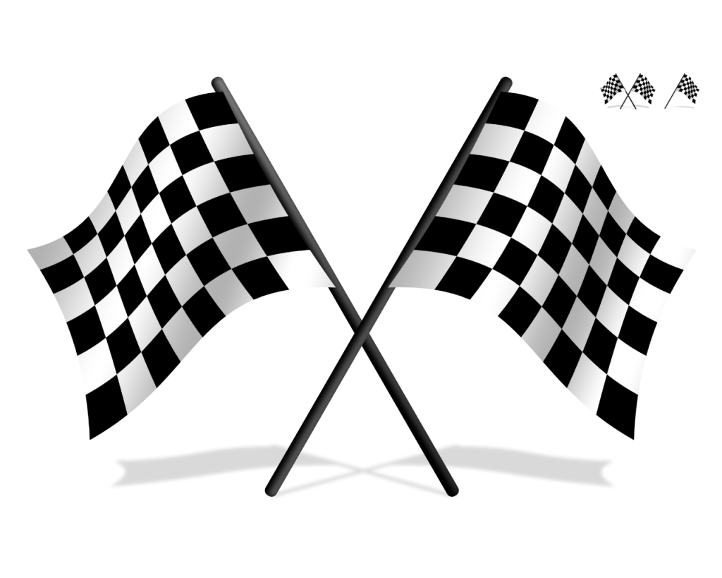 Race car flags clipart banner library stock Pinewood derby Sports car Soap Box Derby Clip art - checkered flag ... banner library stock