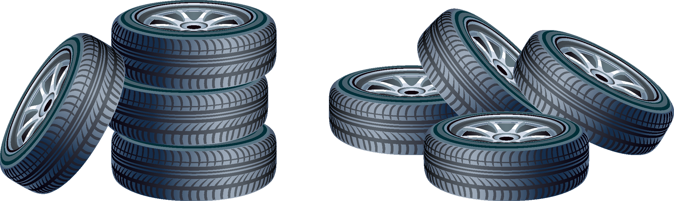 Race car tire clipart banner download Car Spare tire Clip art - Car tires 2244*669 transprent Png Free ... banner download
