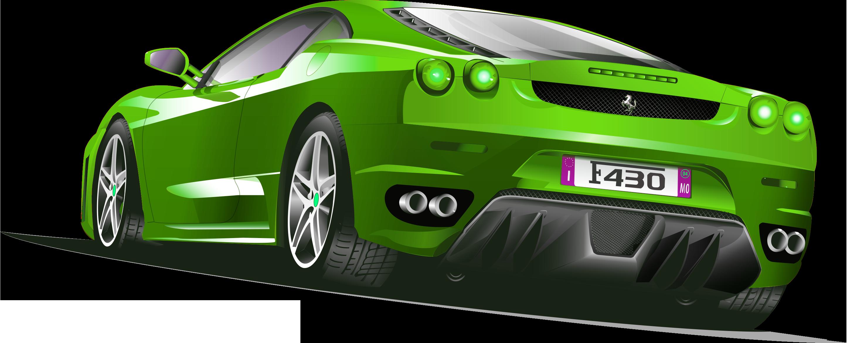 Race car wheel clipart clipart transparent Sports car Ferrari Clip art - Green Ferrari 2890*1170 transprent Png ... clipart transparent