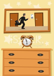 Man IN A Rush Runs Race With Time premium clipart ... svg black and white stock