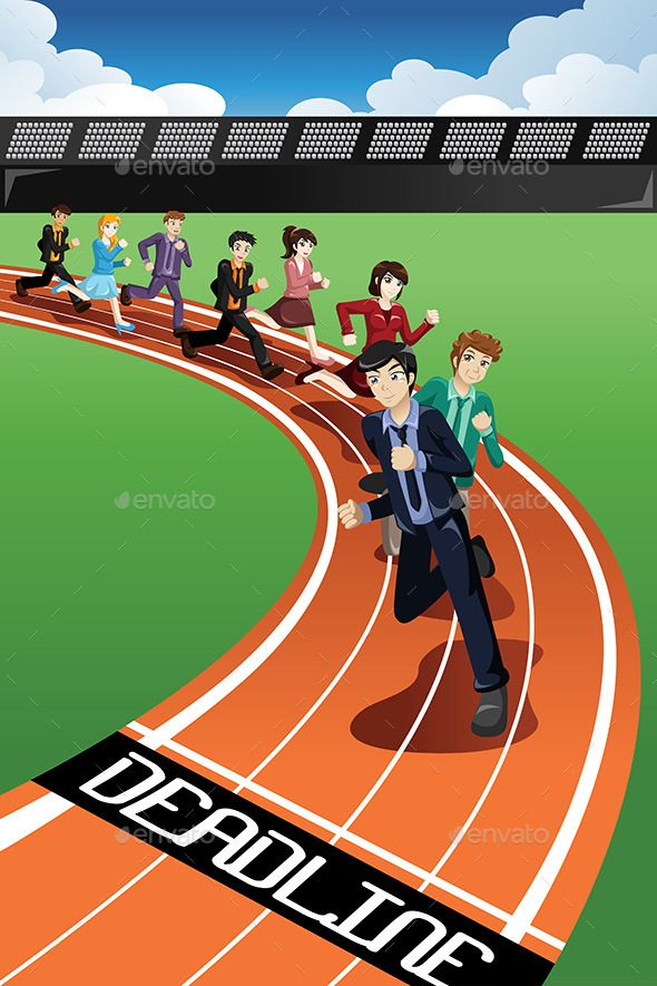 Business People Racing Against Time | Fonts-logos-icons in ... png library library