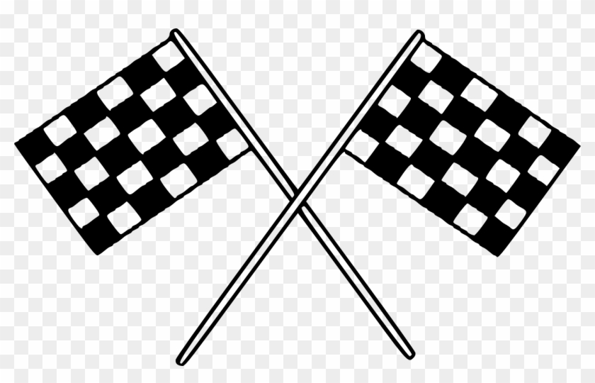 Racing flags clipart vector free stock Flags Checkered Finish Racing Png Image - Race Flags Clip ... vector free stock