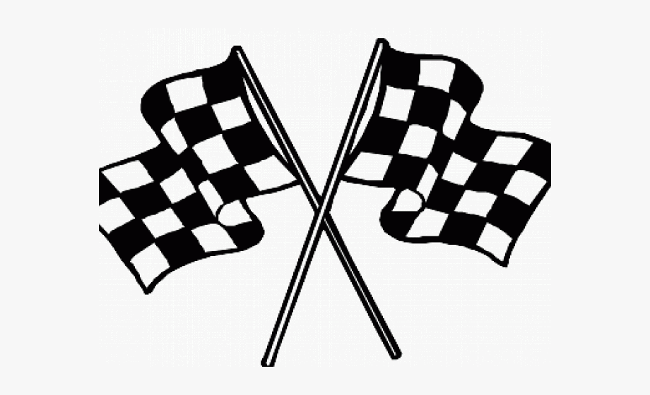 Raceflag clipart graphic black and white library Finish Line Clipart Flag - Checkered Flag #99843 - Free ... graphic black and white library