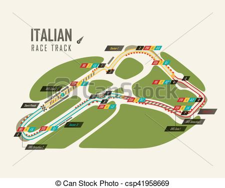 Racetrack number 1 clipart clipart free stock Clip Art Vector of Italian grand prix Monza race track for formula ... clipart free stock