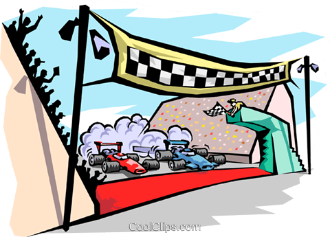 Raceway clipart banner black and white stock finish line at raceway Royalty Free Vector Clip Art ... banner black and white stock