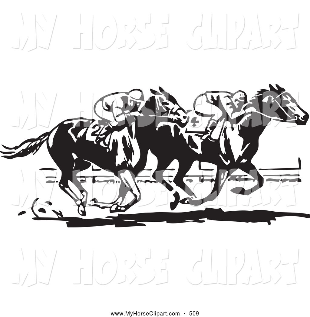 Race Horse Silhouette Clip Art Royalty Free Black And White ... clip black and white stock
