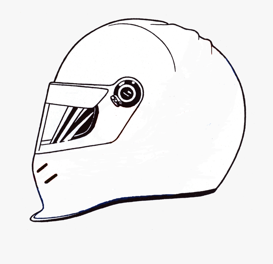 Racing helmet clipart clip black and white download Lmrplainhelmetdrawing - Racing Helmet Clipart #1150167 ... clip black and white download