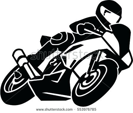 Racing motorcycle clipart clip art library library Motorcycle Clipart Black And White | Free download best ... clip art library library