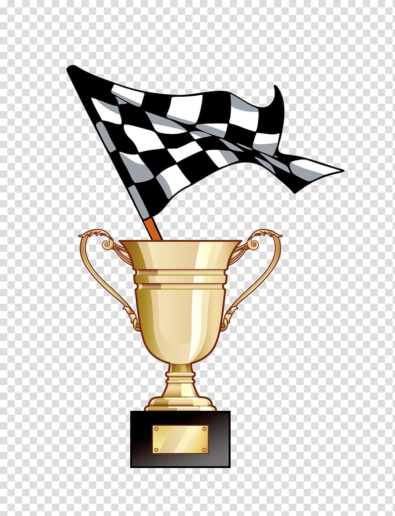 Gold trophy with flag , Racing flags Auto racing Racetrack ... clip royalty free download