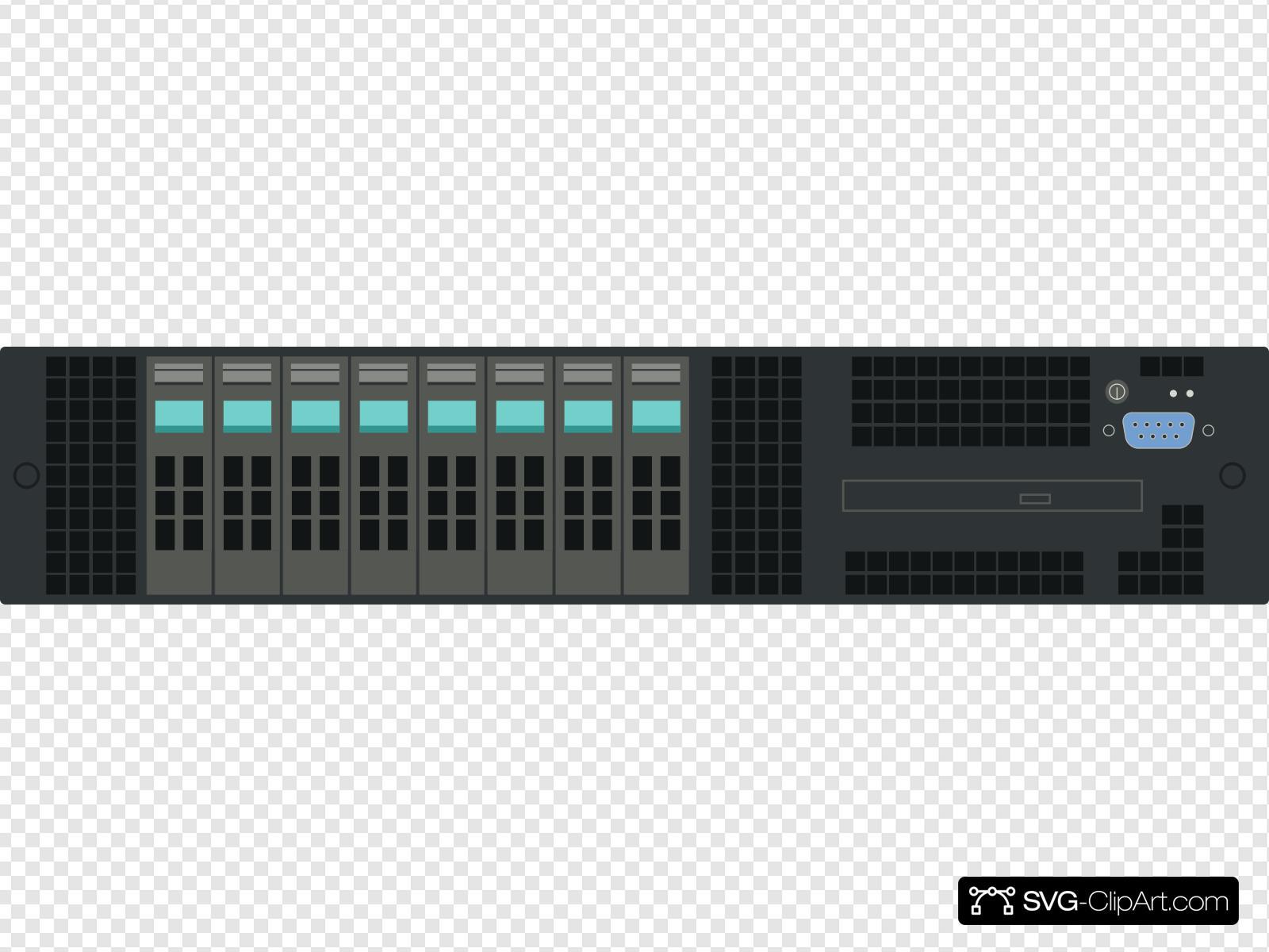 Rack server clipart vector black and white 2u Rack Server Clip art, Icon and SVG - SVG Clipart vector black and white