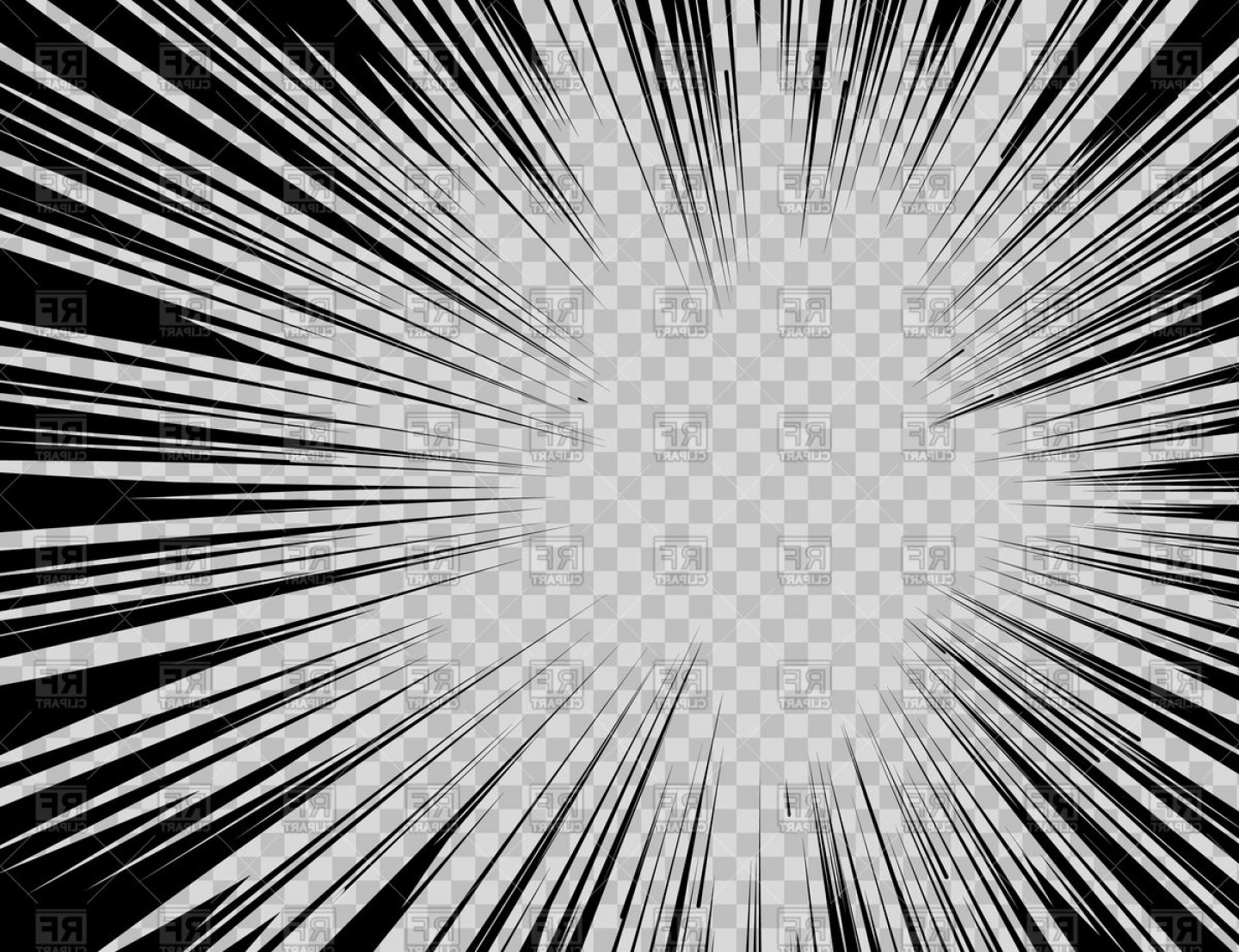Radial clipart image black and white stock Abstract Comic Book Flash Explosion Radial Lines On ... image black and white stock