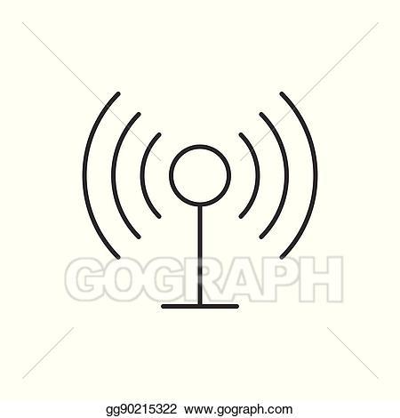 Radio antenna clipart jpg free download Vector Stock - Radio antenna wireless icon. Clipart ... jpg free download