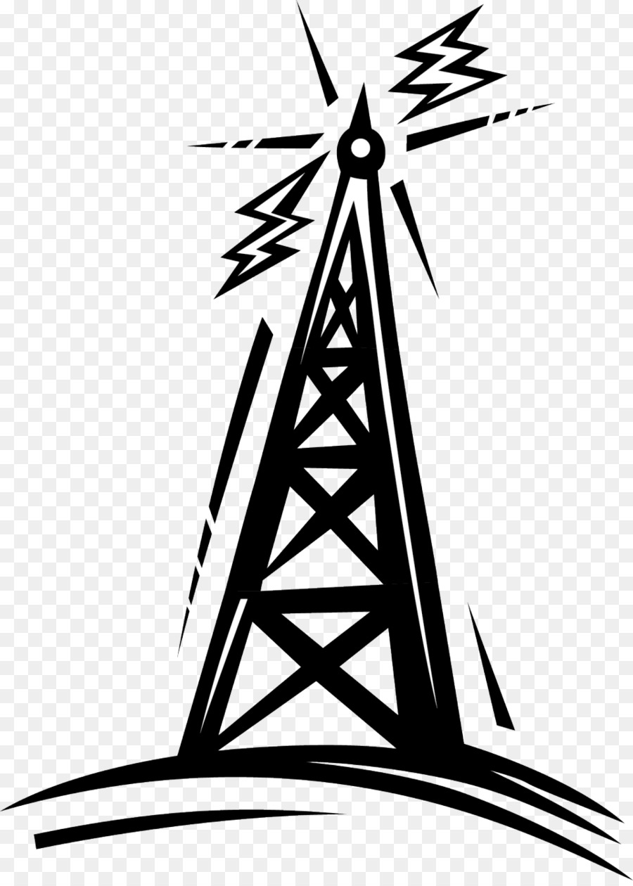 Radio antenna clipart clip art black and white download Aerial Clipart Ham Radio Antenna - Radio Tower Line Art ... clip art black and white download