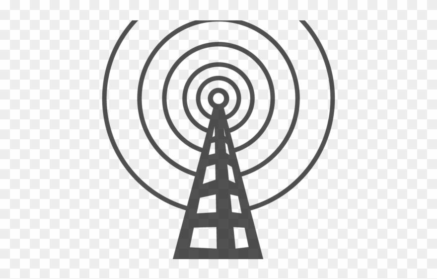 Radio antenna clipart vector royalty free library Antenna Clipart Radio - Radio Tower - Png Download (#1316442 ... vector royalty free library