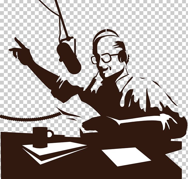 Today i am golden clipart clip art black and white Golden Age Of Radio Broadcasting Radio Personality PNG ... clip art black and white