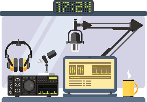 Radio studio clipart image library library Professional Radio Station Studio premium clipart ... image library library