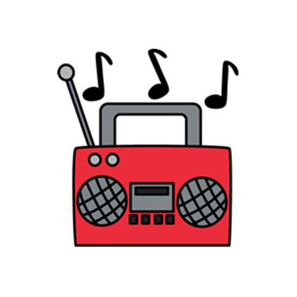 Radio with music notes clipart clipart free radio-cassette-player-music-notes.png - Roblox clipart free