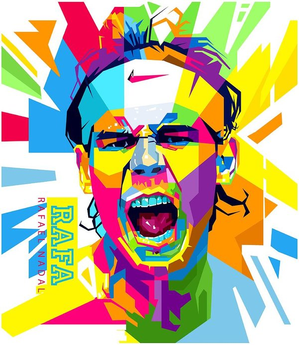 Rafa nadal clipart clip free download Rafael Nadal Art Print clip free download