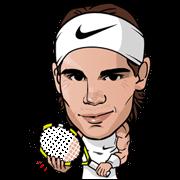 Rafa nadal clipart vector freeuse download Rafa Nadal Line Sticker - Rumors City vector freeuse download