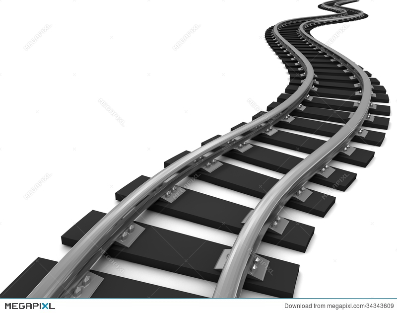 Railroad clipart trail - 42 transparent clip arts, images ... black and white stock