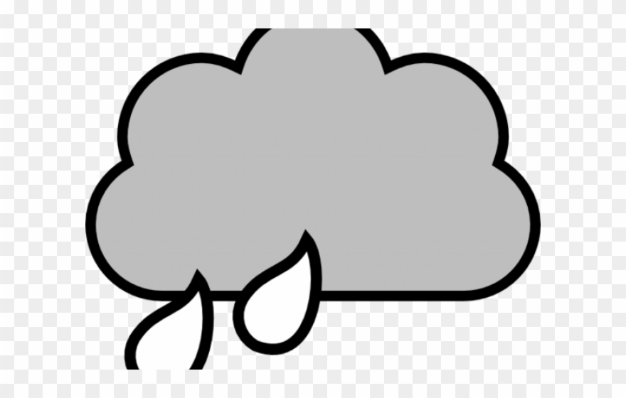 Rain cloud clipart black and white vector freeuse Clouds Clipart Outline - Rain Cloud Clipart Black And White ... vector freeuse