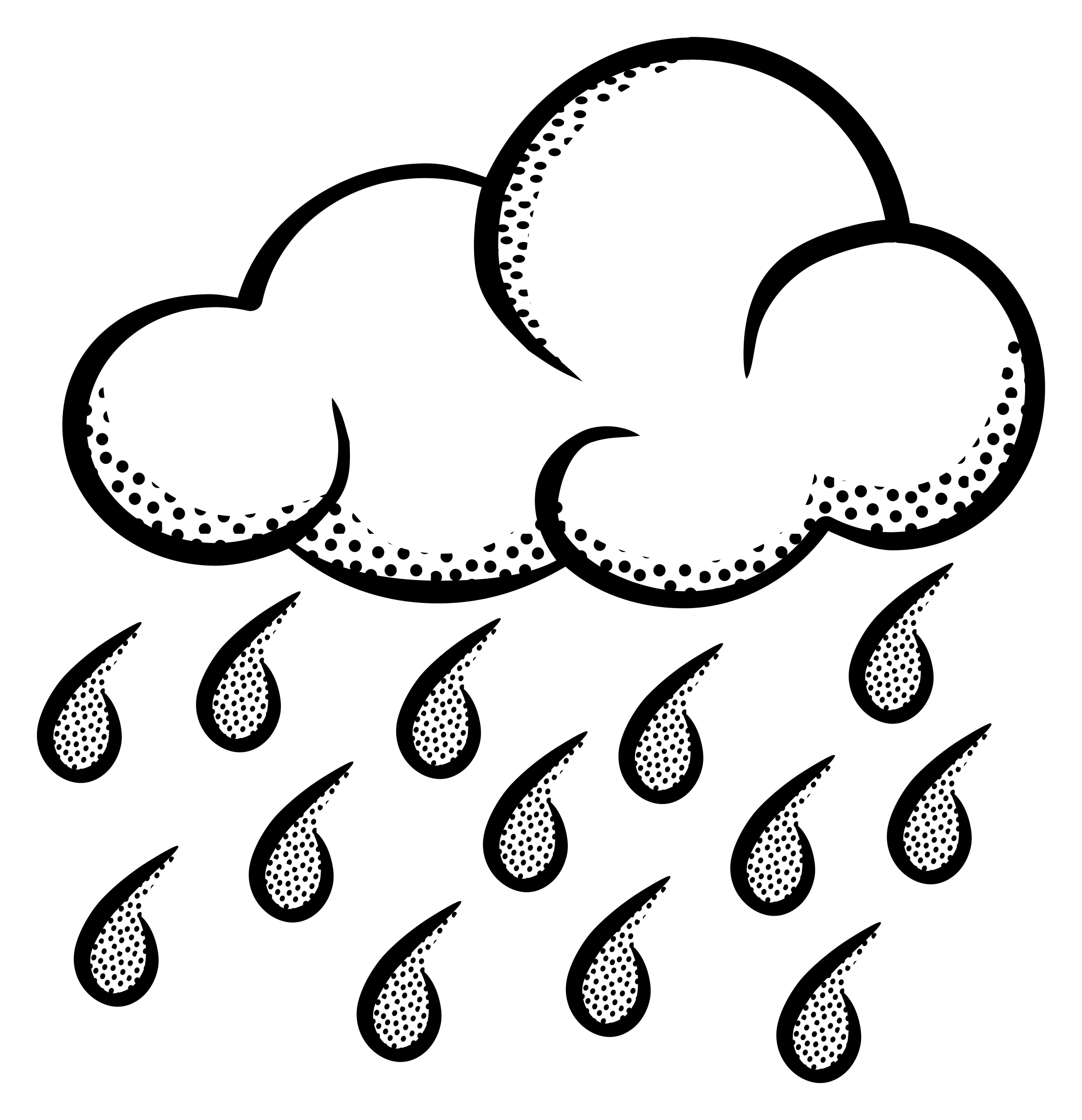 Rain cloud clipart black and white transparent stock Rain cloud rain clipart image a raincloud and rain - WikiClipArt transparent stock