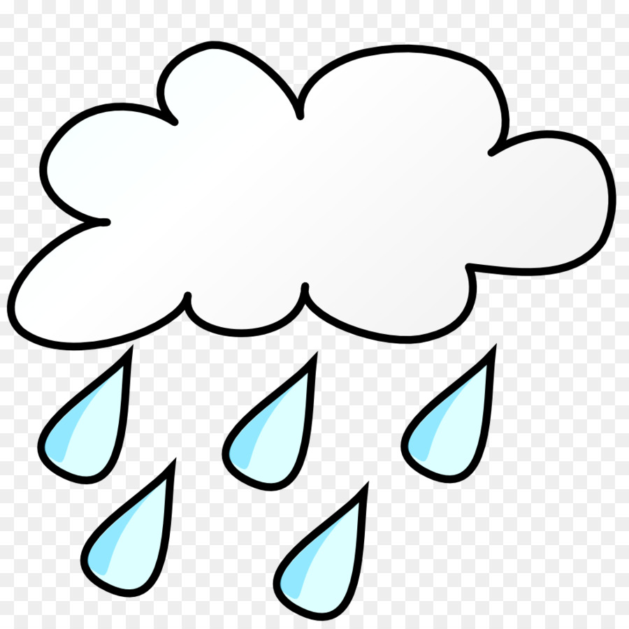 Rain cloud clipart black and white graphic free Black And White Flower clipart - Rain, Cloud, Thunderstorm ... graphic free