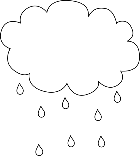 Rain cloud clipart black and white image Black and White Rain Cloud | Clip Art-Weather | Rain clouds ... image