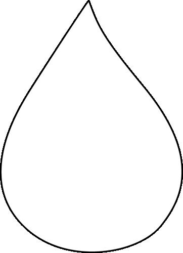 Rain drops clipart black and white banner black and white download Black and White Raindrop | Clip Art-Weather | Rain drops ... banner black and white download