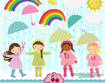 Rain showers clip art png free download Spring Clip Art,april Shower Digital Clip Art,rain, April Rain ... png free download