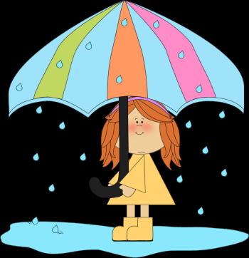 Rain showers clip art image black and white library Cute Spring Rain Clipart - Clipart Kid image black and white library