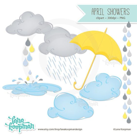 Rain showers clipart clip art freeuse stock April Showers Clipart, Umbrella Clipart, Clouds Digital Clipart ... clip art freeuse stock
