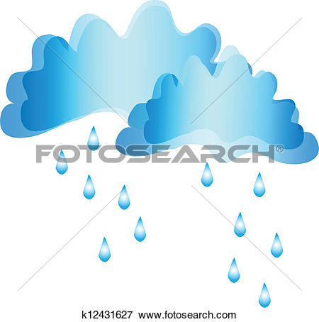 Rain showers clipart vector black and white download Clipart of Rain shower weather k12586402 - Search Clip Art ... vector black and white download