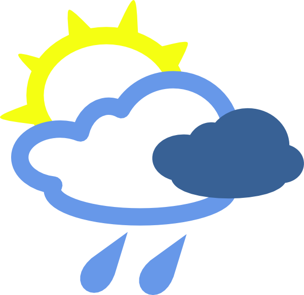 Sun weather clipart picture freeuse download Clip Art Of Chance Of Rain Clipart - Clipart Kid picture freeuse download