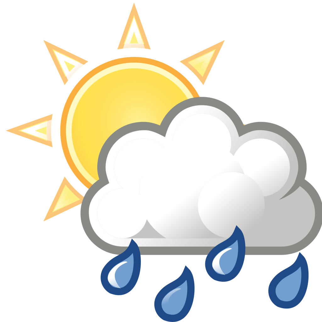 Free clipart sun and clouds picture freeuse library Rain Showers Weather Clip Art – Free Cliparts picture freeuse library