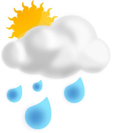 Rain showers clipart