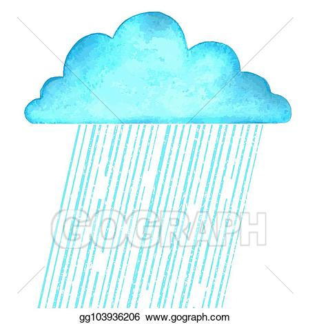 Vector Clipart - Raining. vector image with blue rain cloud ... png free download