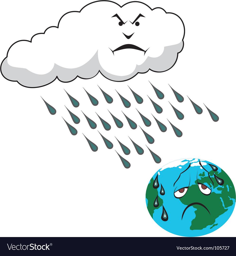 Rain vector clipart svg black and white Acid rain svg black and white