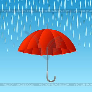 Background with umbrella and rain - vector clipart / vector ... vector freeuse library