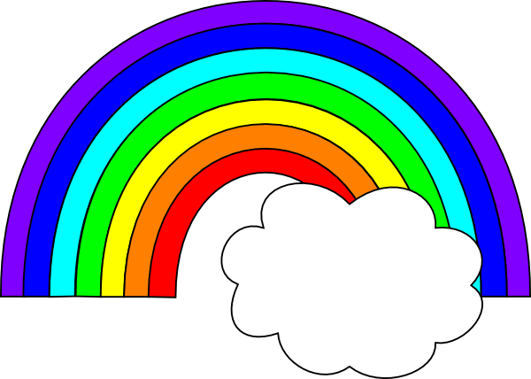 Rainbow and clouds clipart free stock Rainbow With One Cloud Clip Art at Clker.com - vector clip ... free stock