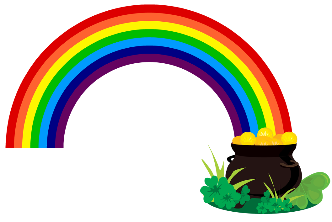 Rainbow and sun clipart clipart library Rainbow With Pot Of Gold Black And White Jixz Mxi E clipart free image clipart library
