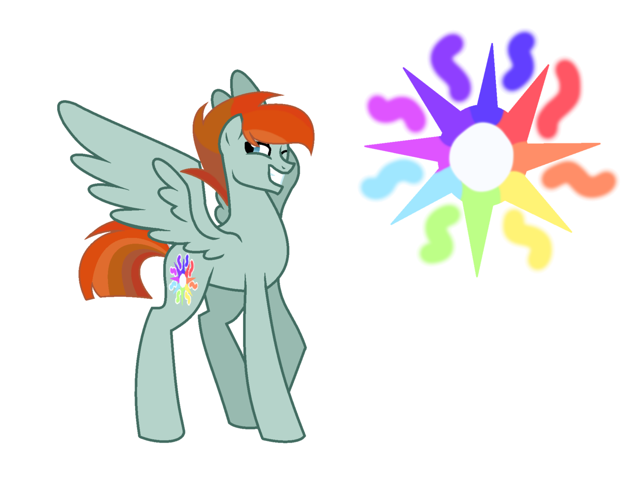 Rainbow and sun clipart large graphic transparent 1693170 - artist:bronyponyyy2340, cutie mark, male, oc, oc:rainbow ... graphic transparent